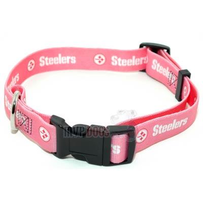 Pink Detroit Lions Dog Collar