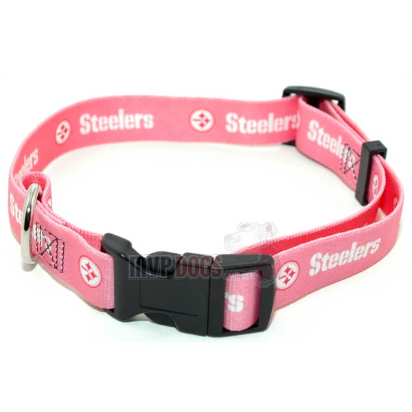 Pittsburgh Steelers NFL Pink Dog Collar