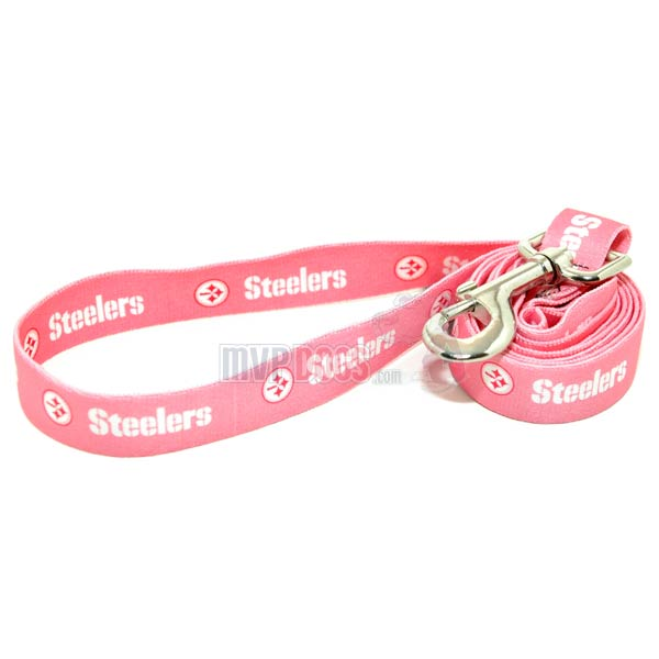 Pittsburgh Steelers NFL Pink Dog Leash