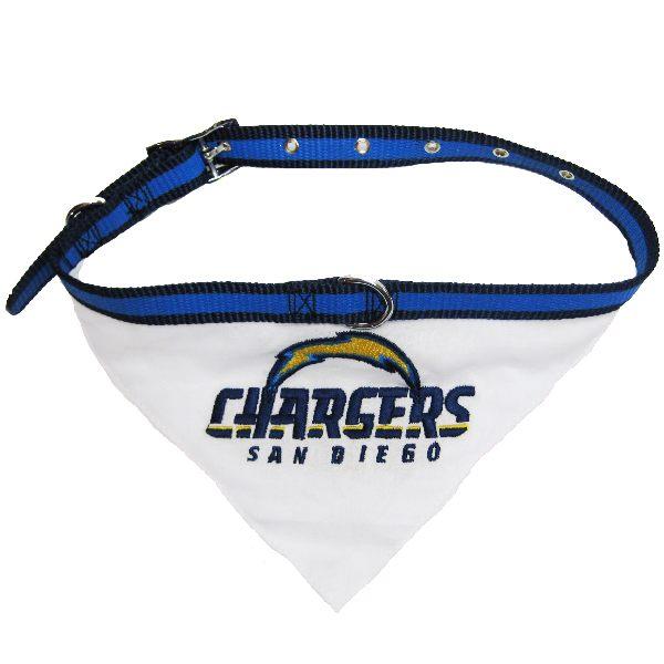 Los Angeles Chargers Nfl Dog Collar Bandana