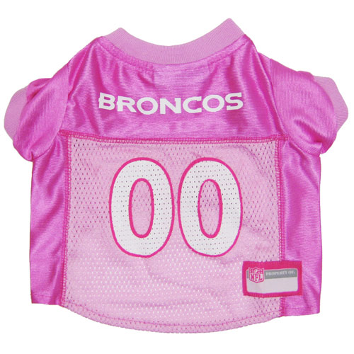 Denver Broncos PINK Dog Jersey