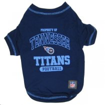 Tennessee Titans NFL Dog Tee Shirt - Large