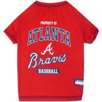Atlanta Braves MLB Dog Tee Shirt