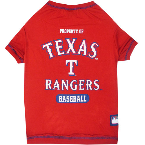 Texas Rangers MLB Dog Tee Shirt
