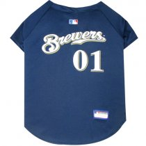 Milwaukee Brewers MLB Dog Jersey