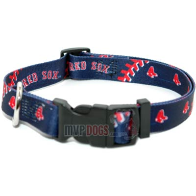 Boston Red Sox MLB Dog Collar