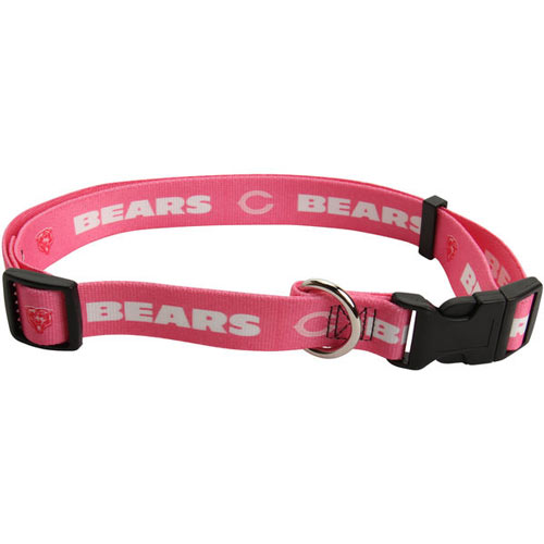 Chicago Bears NFL Pink Dog Collar