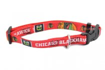Chicago Blackhawks NHL Woven Dog Collar