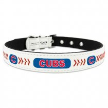 Chicago Cubs Leather Baseball Collar