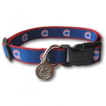 Chicago Cubs Reflective Nylon Collar with ID Tag