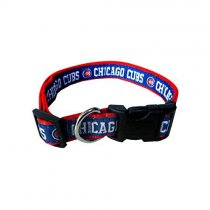Chicago Cubs Woven Dog Collar