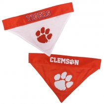 Clemson Tigers NCAA Reversible Dog Bandana