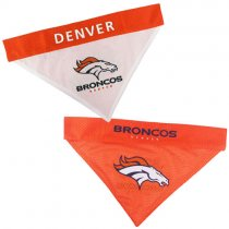 Denver Broncos NFL Reversible Dog Bandana