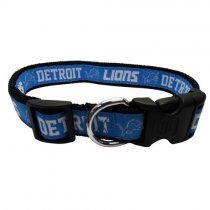 Detroit Lions Woven Dog Collar