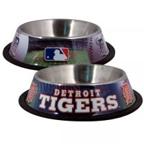 Detroit Tigers MLB Stainless Steel Dog Bowl