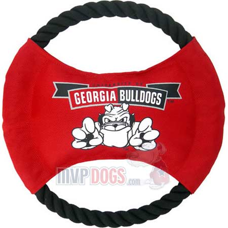 Georgia Bulldogs NCAA Rope Disk Toy
