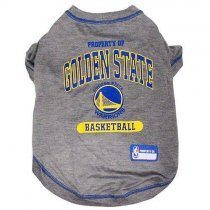 Golden State Warriors NBA Dog Tee Shirt