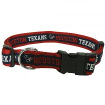 Houston Texans Woven Dog Collar - Small