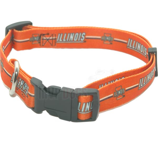 Illinois Fighting Illini NCAA Dog Collar
