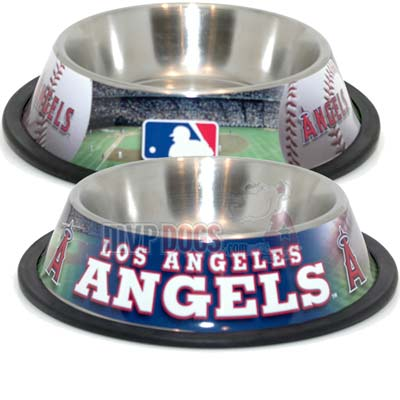 Los Angeles Angels MLB Stainless Steel Dog Bowl