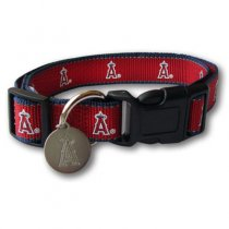 Los Angeles Angels Reflective Nylon Collar with ID Tag