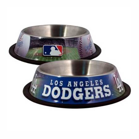 Los Angeles Dodgers MLB Stainless Steel Dog Bowl