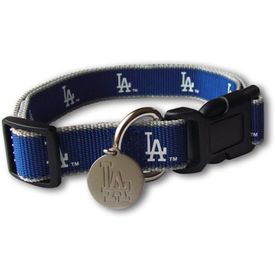 Los Angeles Dodgers Reflective Nylon Collar with ID Tag