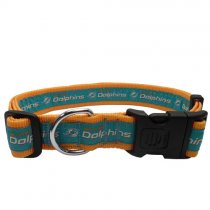 Miami Dolphins Woven Dog Collar
