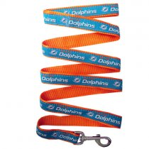 Miami Dolphins Woven Dog Leash