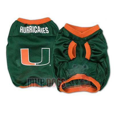 Miami Hurricanes Official Replica Dog Jersey
