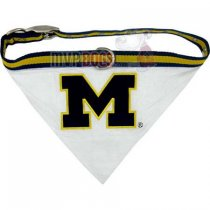 Michigan Wolverines NCAA Dog Collar Bandana