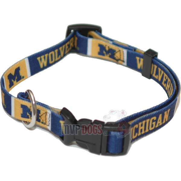 Michigan Wolverines NCAA Dog Collar
