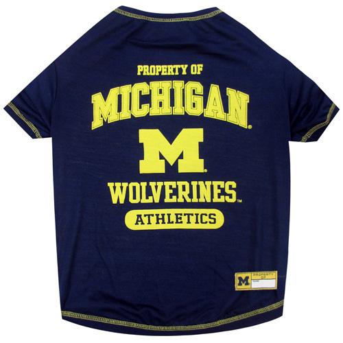 Michigan Wolverines NCAA Dog Tee Shirt