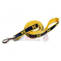 Michigan Wolverines Woven Ribbon Leash