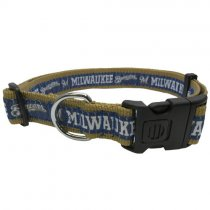 Milwaukee Brewers Woven Dog Collar