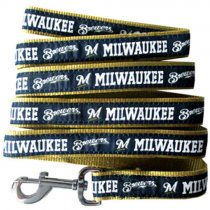 Milwaukee Brewers Woven Dog Leash