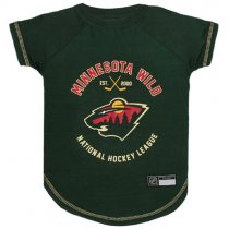 Minnesota Wild NHL Dog Tee Shirt