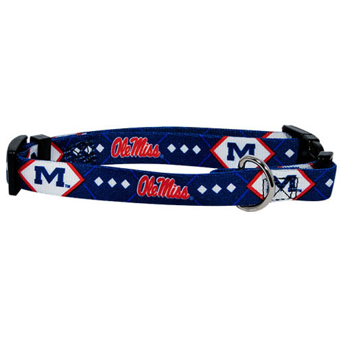Mississippi Rebels NCAA Dog Collar