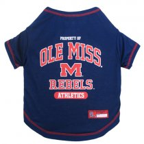 Mississippi Rebels NCAA Dog Tee Shirt