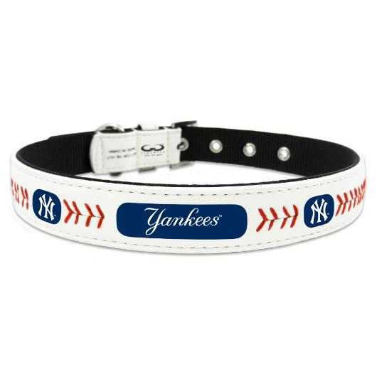 New York Yankees Leather Baseball Collar