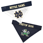 Notre Dame Fightin' Irish NCAA Reversible Dog Bandana