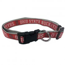 Ohio State Buckeyes Woven Dog Collar