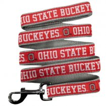 Ohio State Buckeyes Woven Dog Leash