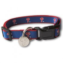 Philadelphia Phillies Reflective Nylon Collar with ID Tag