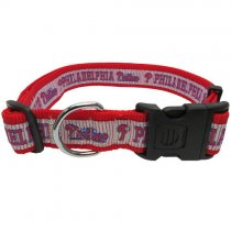 PHiladelphia Phillies Woven Dog Collar