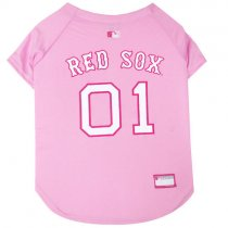 Pink Boston Red Sox MLB Dog Jersey