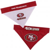 San Francisco 49ers NFL Reversible Dog Bandana