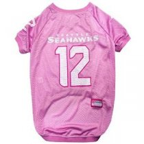 Seattle Seahawks 12th Man PINK Dog Jersey