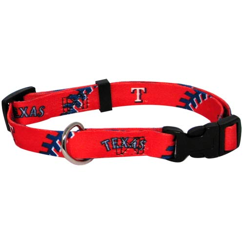 Texas Rangers MLB Dog Collar