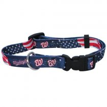 Washington Nationals MLB Dog Collar - M: 14-18″ length, 3/4″ width